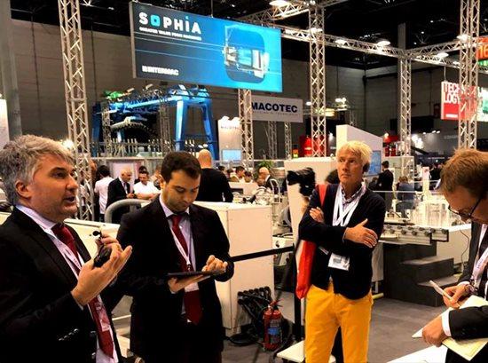 Pressetour am Stand von Intermac: eine Reise in der Fabrik der Zukunft