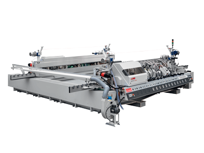 Double edging machines for sintered and natural machines Busetti F series