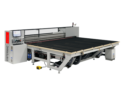 The range of cutting tables for laminated glass aimed at companies that wish to automate their laminated glass cutting processes Genius LM series