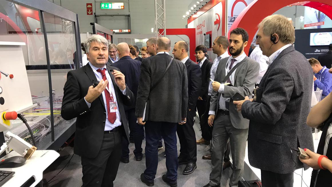 Press Tour at the Intermac booth: a journey into the factory of the future: Photo 2