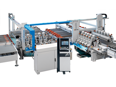 The range of machines for the processing of pencil edge and flat edge with arris and allow to work thinner thicknesses from 2 to 12 mm Busetti P series